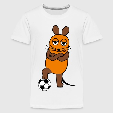 Kindershirt - Maus Fussball - Teenager Premium T-Shirt