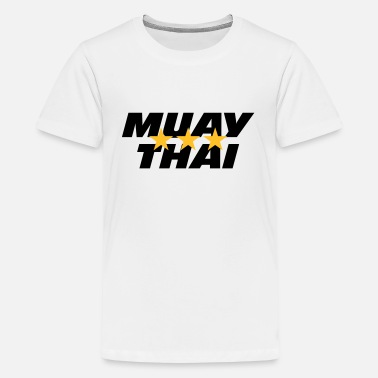 Muay Thai Thaiboksen Muay Thai - Teenager Premium T-shirt