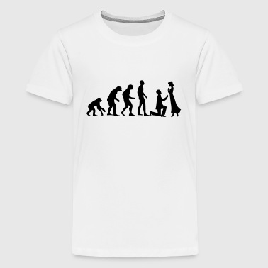 Evolution Of Marriage EVOLUTION OF MARRIAGE! - Teenage Premium T-Shirt