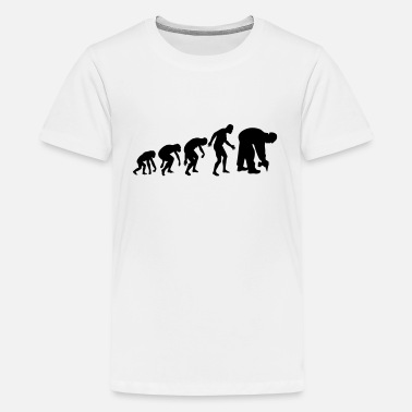 Evolution Handwerk HANDWERK EVOLUTION! (BAUSTELLEN FLAVOUR) - Teenager Premium T-Shirt