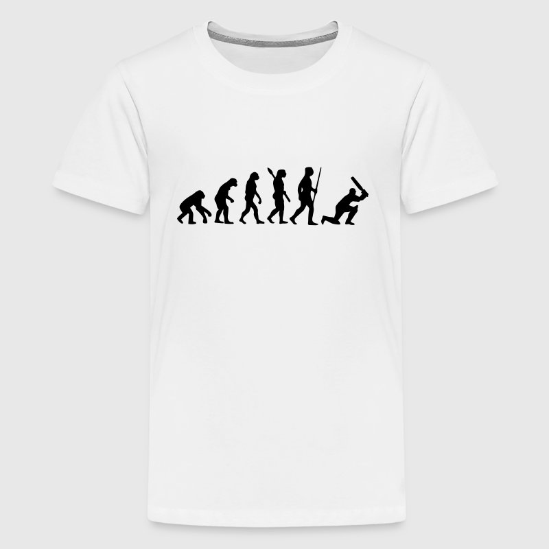 CRICKET EVOLUTION - Teenage Premium T-Shirt
