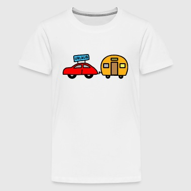 Caravan - colorful - Teenage Premium T-Shirt