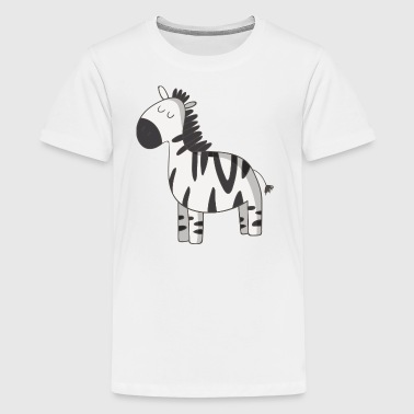 zebra - Teenage Premium T-Shirt