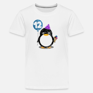 12th Birthday 12th birthday child penguin Twelve years gift - Teenage Premium T-Shirt