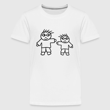 Big Brother - Little Brother - Teenage Premium T-Shirt
