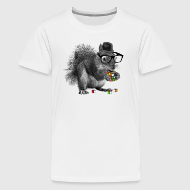 Rubik's Squirrel - Teenage Premium T-Shirt