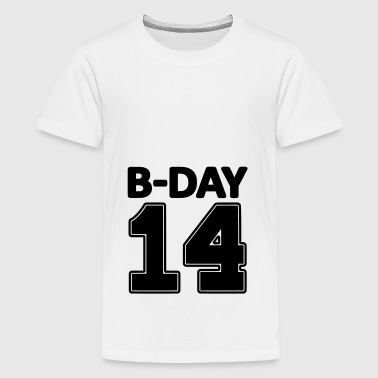 14 number fourteen / birthday number number jersey - Teenage Premium T-Shirt