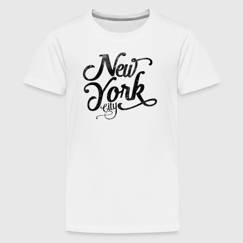 New York City typography - Teenage Premium T-Shirt