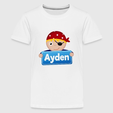 Little Pirate Ayden - Teenage Premium T-Shirt