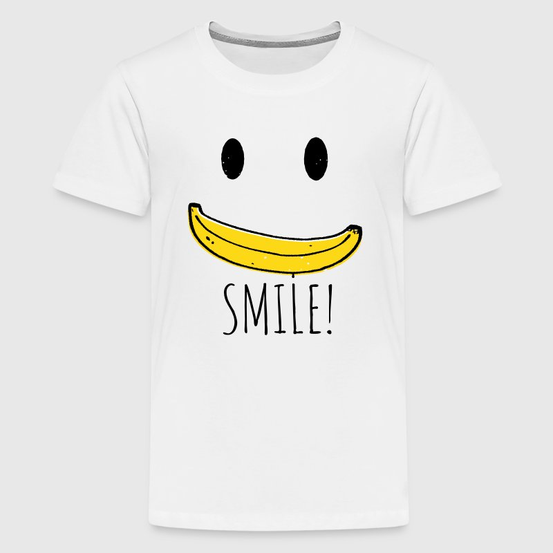 Coole Retro Smiley Banana smile sprüche - Teenager Premium T-Shirt