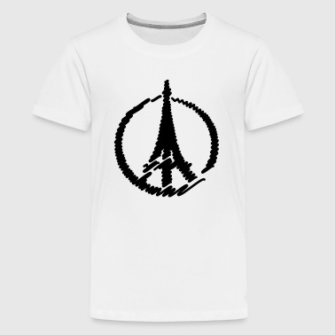 Frieden Paris Eiffelturm - Teenager Premium T-Shirt