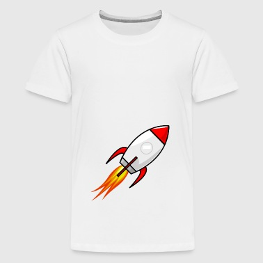 Rakete in Rot - Teenager Premium T-Shirt
