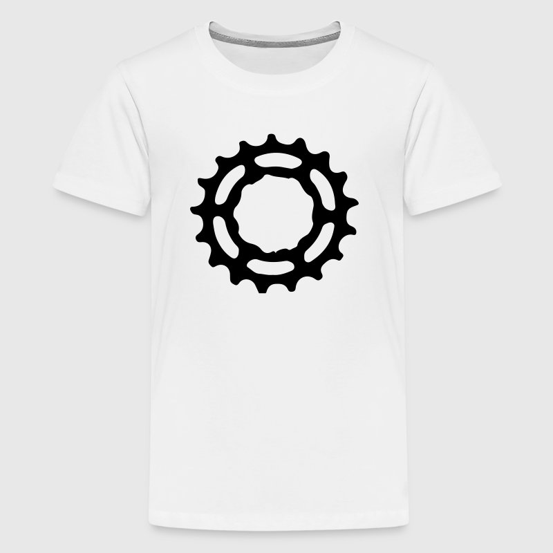 Mountain bike gear sprocket gears 1c. - Teenage Premium T-Shirt
