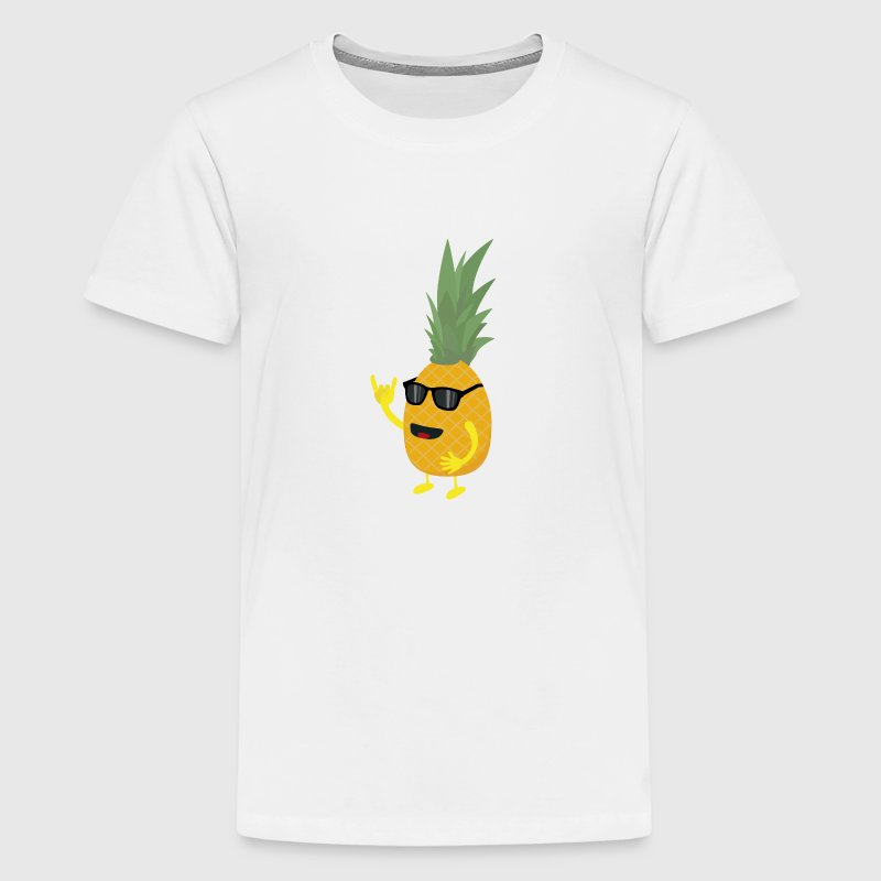 Heavy Metal Ananas - Teenager Premium T-Shirt