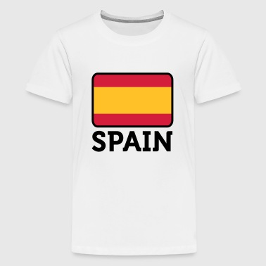National Flag of Spain - Premium T-skjorte for tenåringer