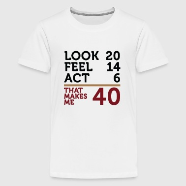 Jeg er 40 år, men .... - Teenager premium T-shirt