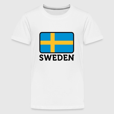 Nationalflagge von Schweden - Teenager Premium T-Shirt