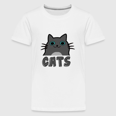 Cartoon katten - Teenager Premium T-shirt
