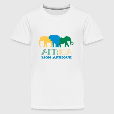 Africa Mon Afrique / Art / Design - Teenage Premium T-Shirt