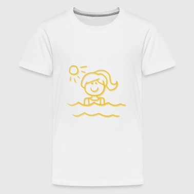 beach holiday - Teenage Premium T-Shirt
