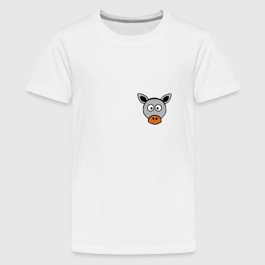 Cartoon dierlijke cartoon ezel - borst motief - geschenk - Teenager Premium T-shirt