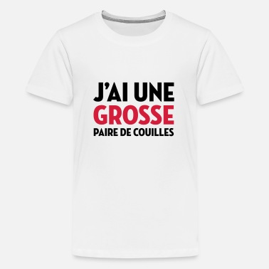 Ne Me Drague Pas Paire de Couilles / Drague / Sexe / Courage - T-shirt Premium Ado