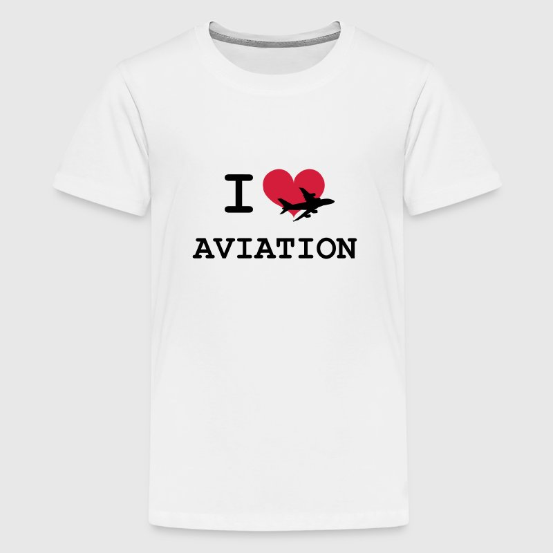 I Love Aviation [Pilot] - Premium-T-shirt tonåring