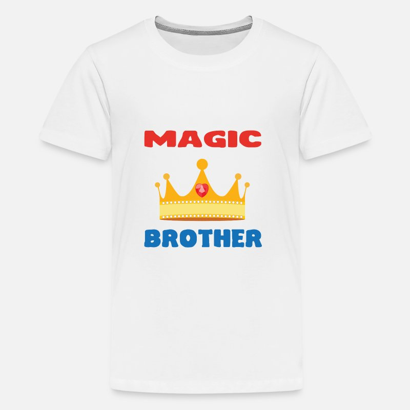 Frère T-shirts - Dad / Brother / Sister / Mommy / Mother / Father - T-shirt premium Ado blanc
