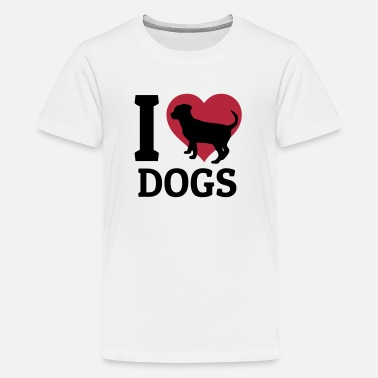 I Love I love dogs - Teenager Premium T-Shirt