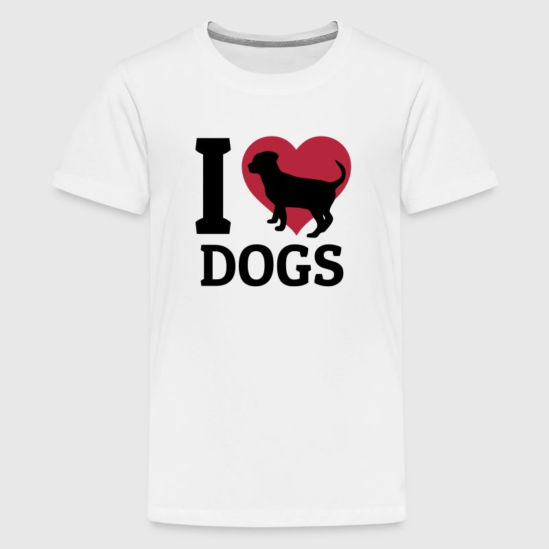 I love dogs - Teenage Premium T-Shirt