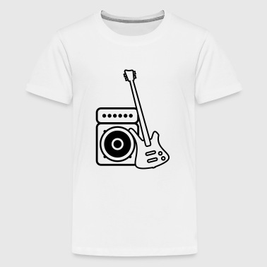 Tops Speaker Bass guitar with amp Long Sleeve Shirts - Teenage Premium T-Shirt