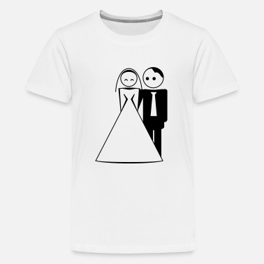 Bride And Groom couple / wedding / mariage / bride and groom 1c - Teenager Premium T-Shirt