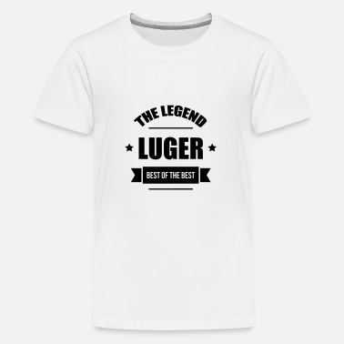 Luge Luge Sled Rodeln Luger Sledding Slider - Teenage Premium T-Shirt