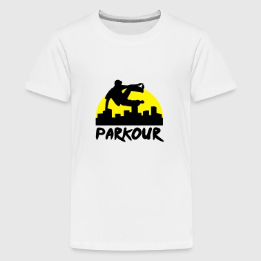 Free running in the city, parkour - Teenager Premium T-shirt