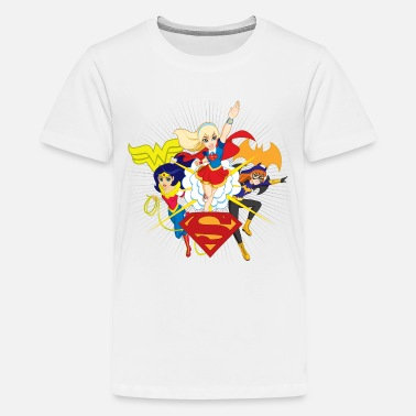 Batgirl DC Super Hero Girls Wonder Woman Supergirl Batgirl - Premium-T-shirt tonåring