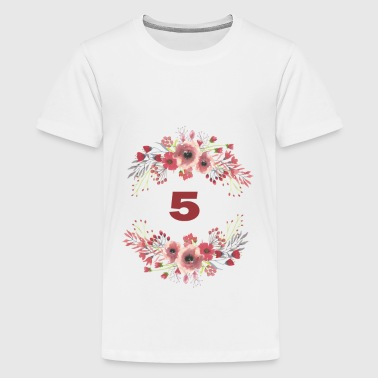 5th birthday - Teenage Premium T-Shirt