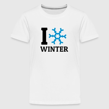I love Winter - Teenage Premium T-Shirt