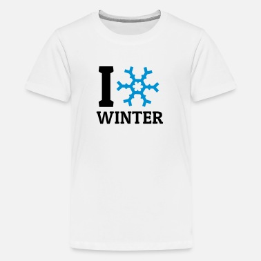 I Love Winter I love Winter amo l'inverno - Maglietta Premium per ragazzi