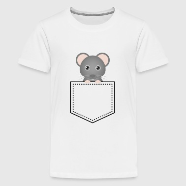 Pocket Animal Mouse - Teenager premium T-shirt