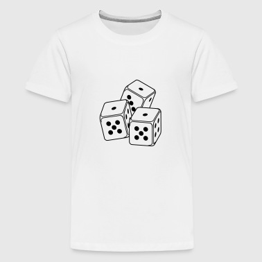 drei Spielwürfel / bunco dices (3c) - Teenager Premium T-Shirt