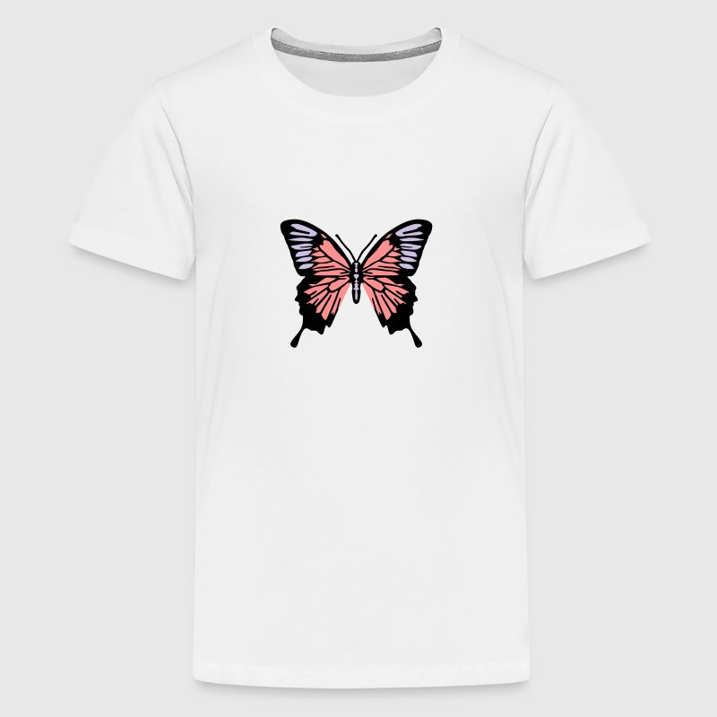 Schmetterling 3 farben - Teenager Premium T-Shirt