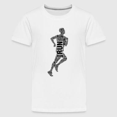 runner running - Teenage Premium T-Shirt