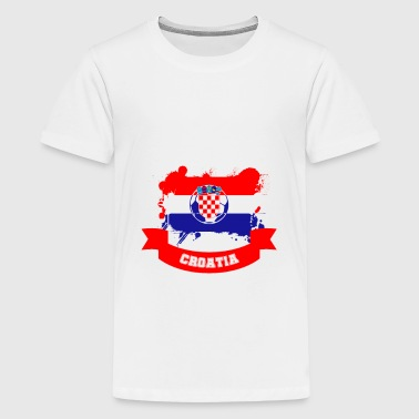 Soccer Croatia Soccer Fan Fanshirt - Teenage Premium T-Shirt