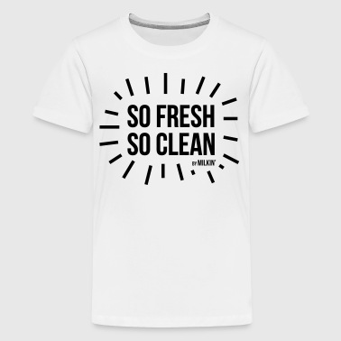 Milkin' - so fresh so clean - Premium-T-shirt tonåring