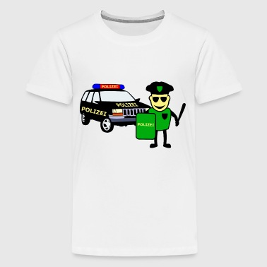 Police Officer & Police Car - Teenage Premium T-Shirt
