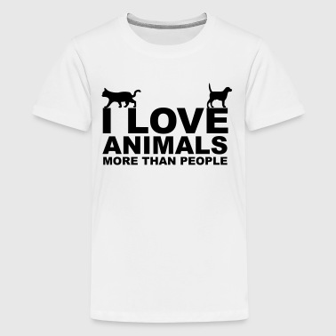 I Love Animals - Camiseta premium adolescente