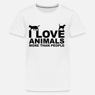 I Love Animals I Love Animals - Camiseta premium adolescente