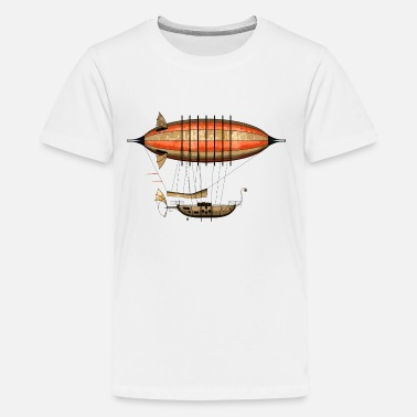 Poppycock And Cheapskate Vintage Steampunk Airship 44cm Sofa Pillow Cover - Teenage Premium T-Shirt