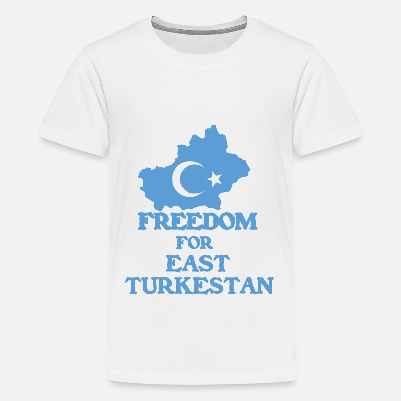 Türkistan T-Shirts - Freedom for East Turkestan - Teenage Premium T-Shirt white