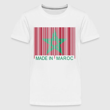 Code barre Made in MAROC - T-shirt Premium Ado